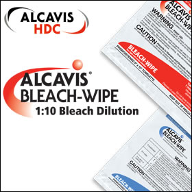 Alcavis Bleach Wipes 1:10