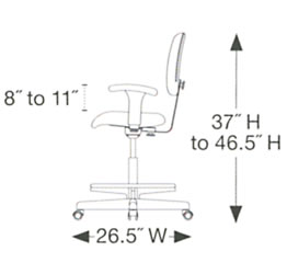 Task Chair Dimentions