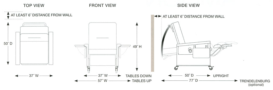 Champion Chair  86 Series Space Requirements