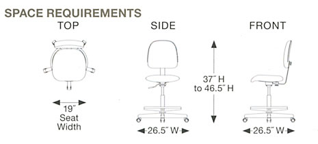 Task Chair Space Requirements