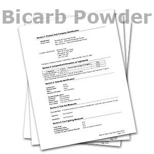 Bicarb Powder MSDS