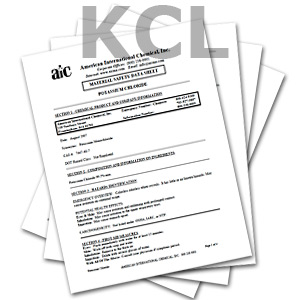 Edlaw Potassium Cloride MAterial Safety Data Sheets (MSDS)